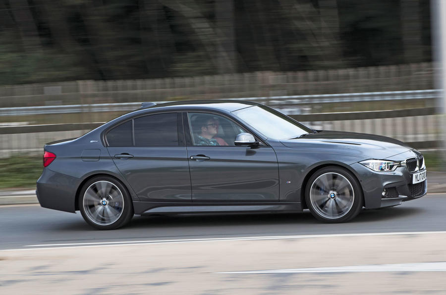 BMW 330e on the road