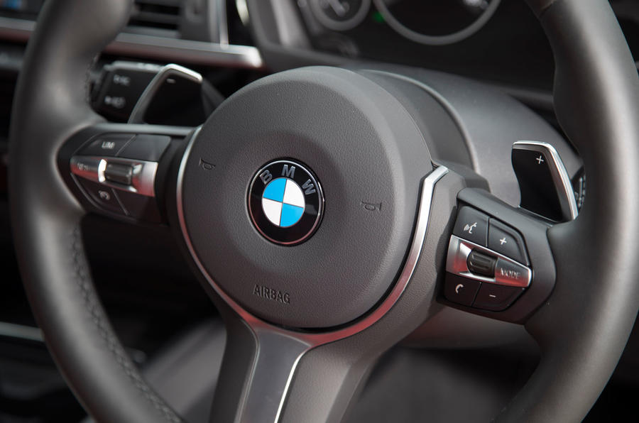 BMW 330e steering wheel