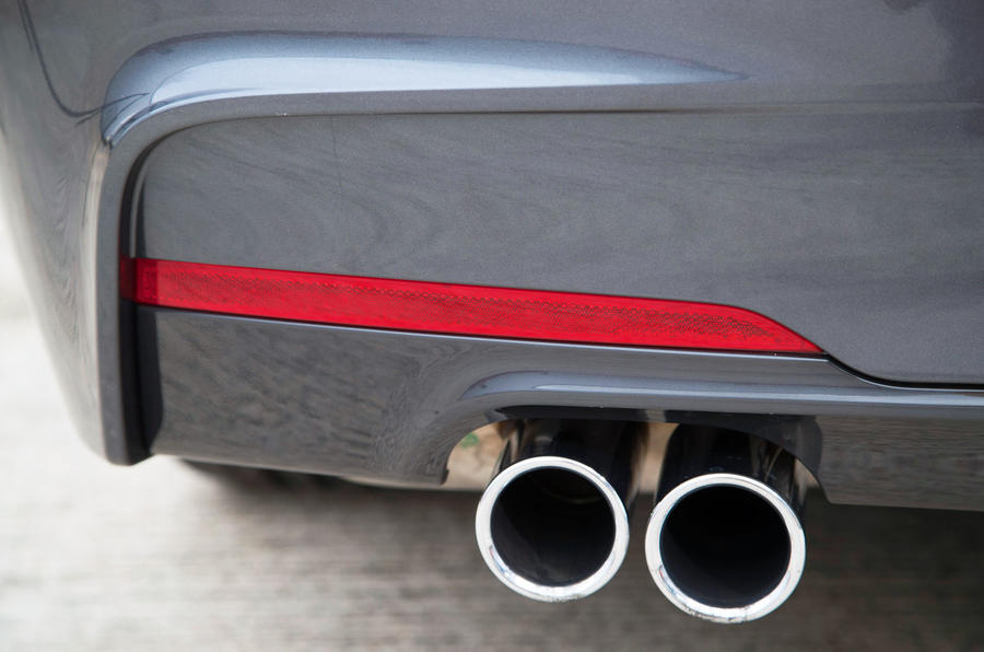 BMW 330e twin chrome exhaust
