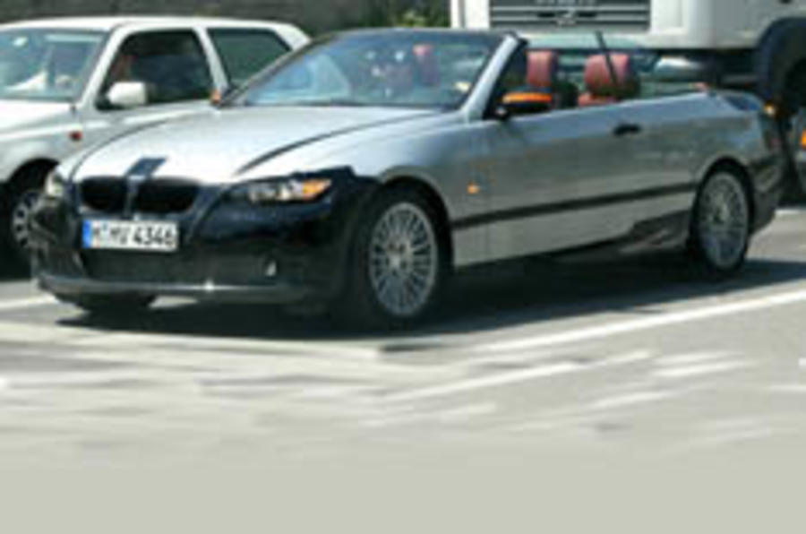 BMW's 3-series cabrio caught