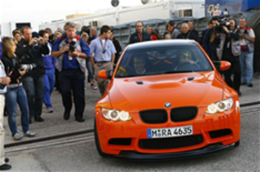 Rossi samples BMW M3 GTS