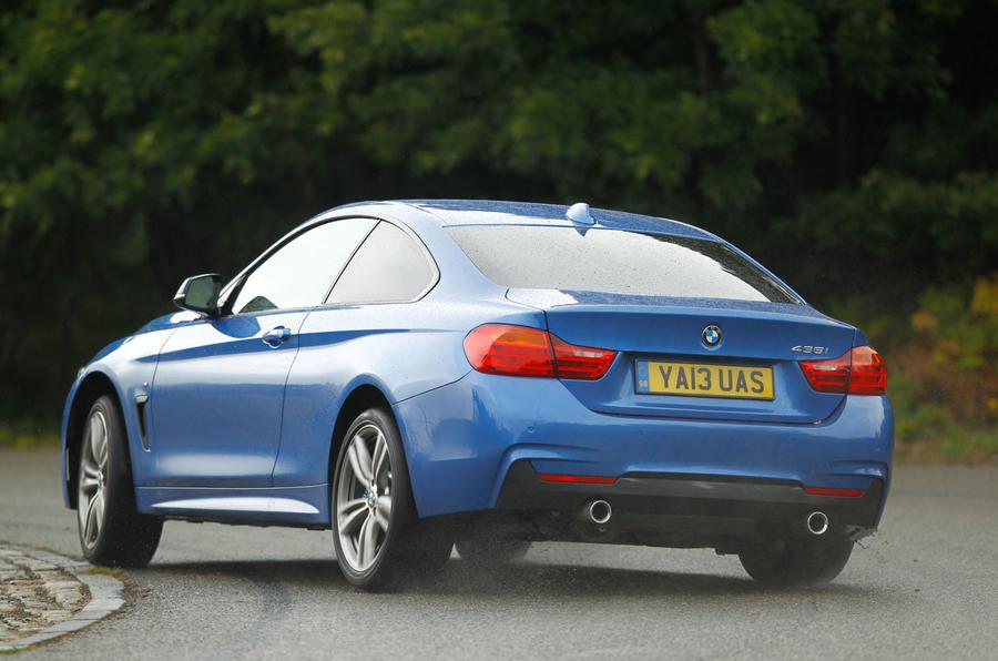 BMW 4 Series rear cornering