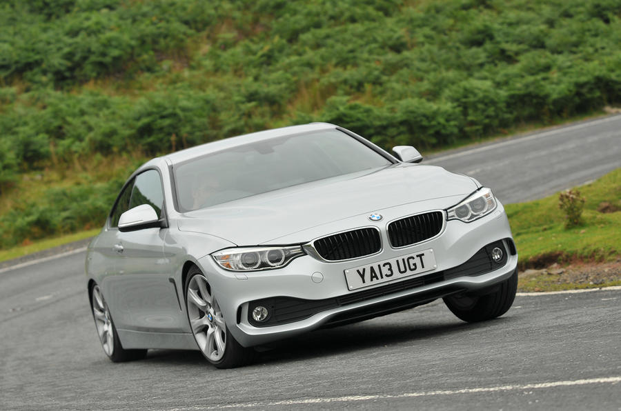 BMW 4-series 420d 2013 UK review hero front