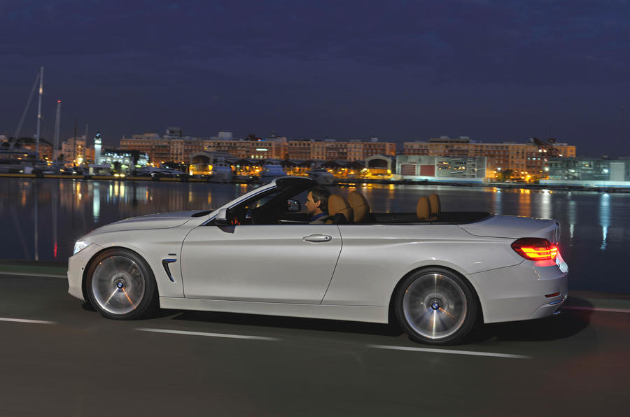 BMW 420d convertible roof down