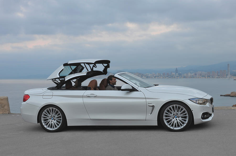 BMW 420d convertible roof opening
