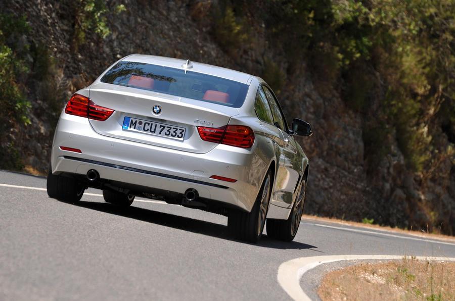 BMW 435i rear cornering