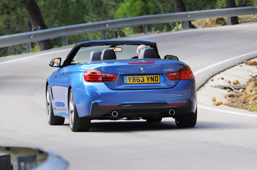 BMW 435i convertible rear cornering