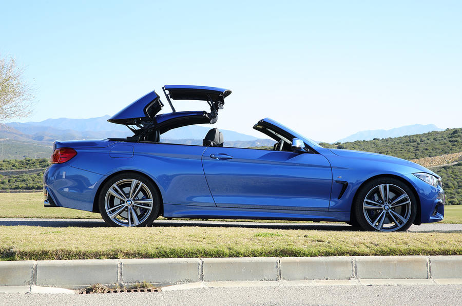 BMW 435i convertible folding roof