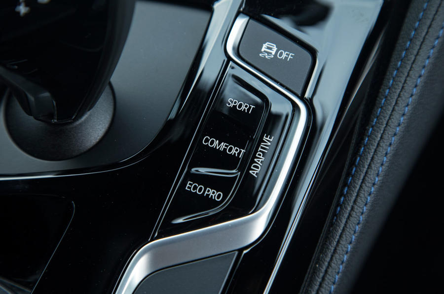 BMW 5 Series dynamic modes
