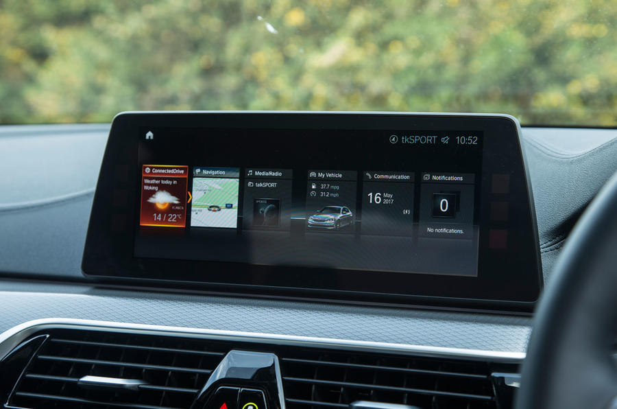 BMW 5 Series infotainment system