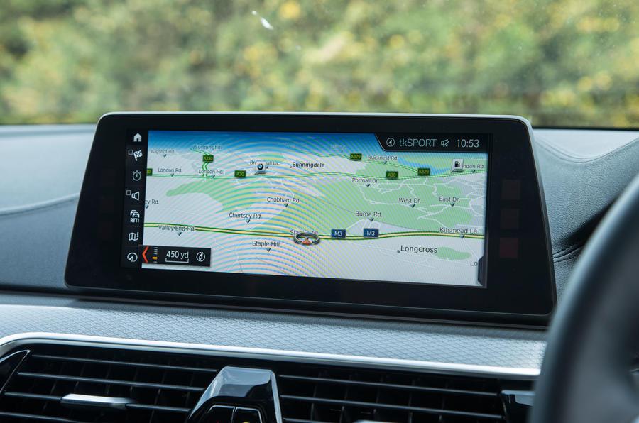 BMW 5 Series sat nav system