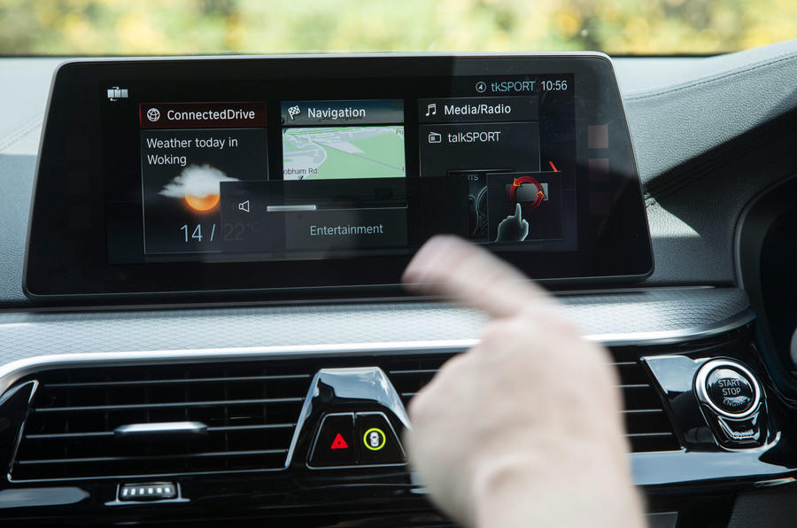 BMW 5 Series touchscreen display