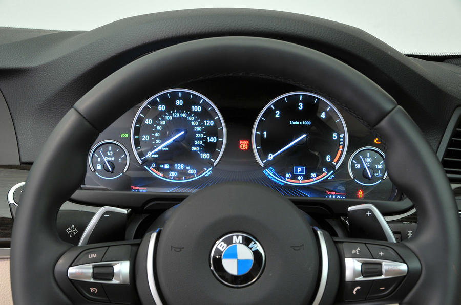 BMW 5 Series instrument cluster