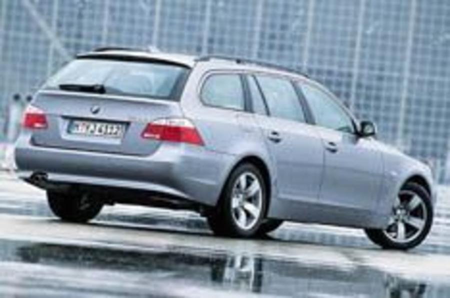 BMW 5-series tourer driven