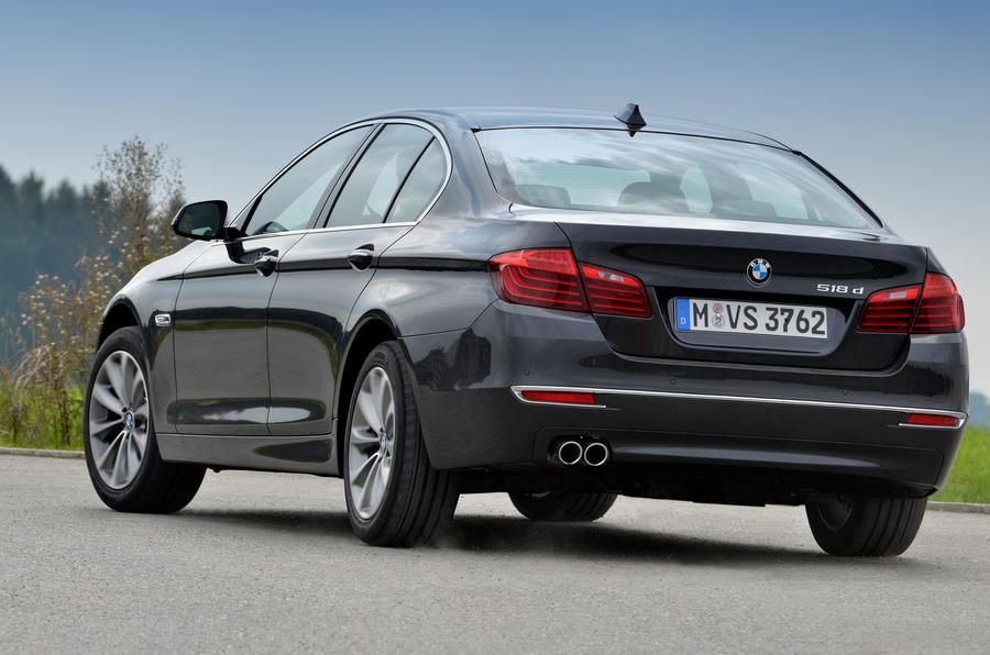 BMW 518d Luxury rear cornering