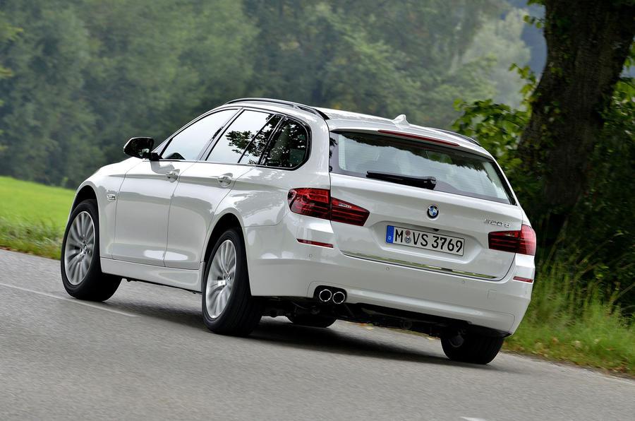 BMW 520d Touring rear cornering