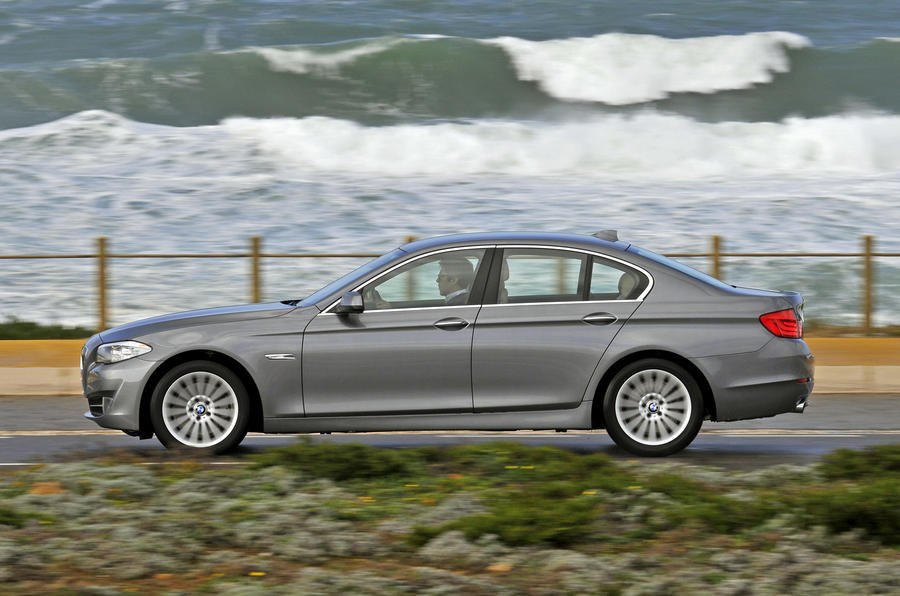 New BMW 5-series on video