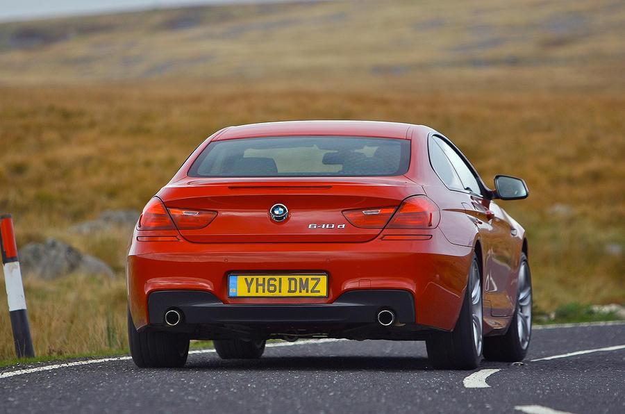BMW 6 Series rear cornering