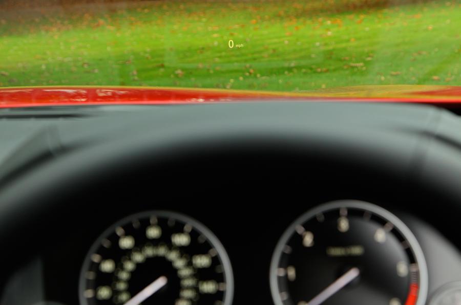 BMW 6 Series head-up display
