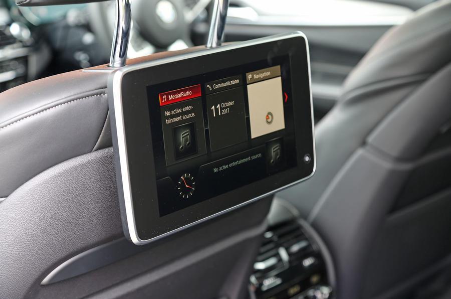 BMW 6 Series Gran Turismo rear TV screens