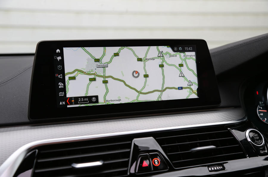 BMW 6 Series Gran Turismo sat nav screen