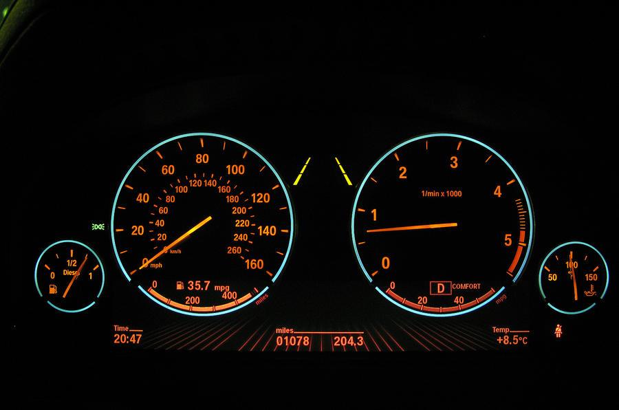 BMW 7 Series instrument cluster