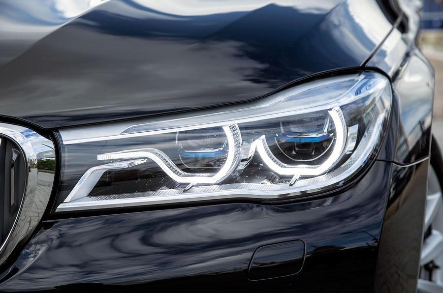 BMW 7 Series's LED headlights