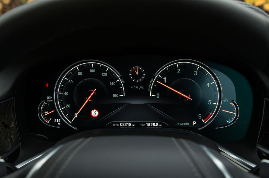 BMW 7 Series digital instrument cluster