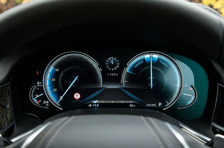 7 Series Eco-Mode instrument cluster