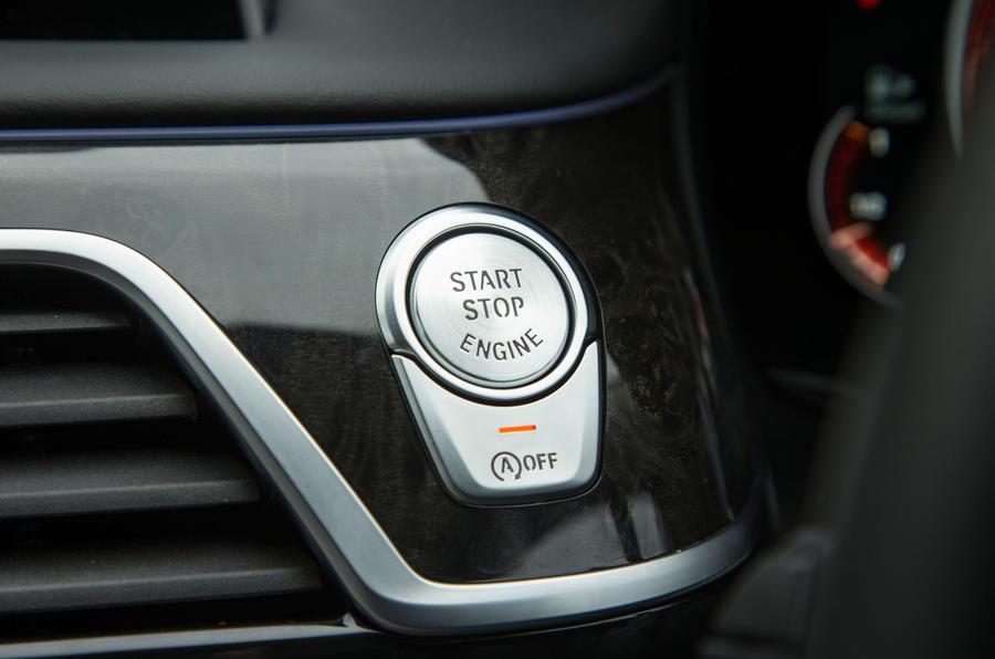 BMW 7 Series ignition button