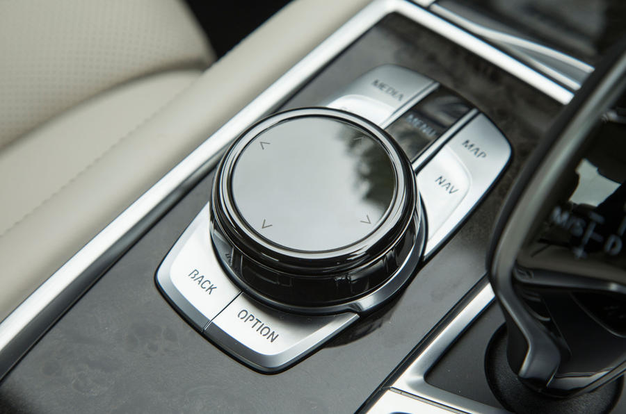 BMW 7 Series iDrive controls