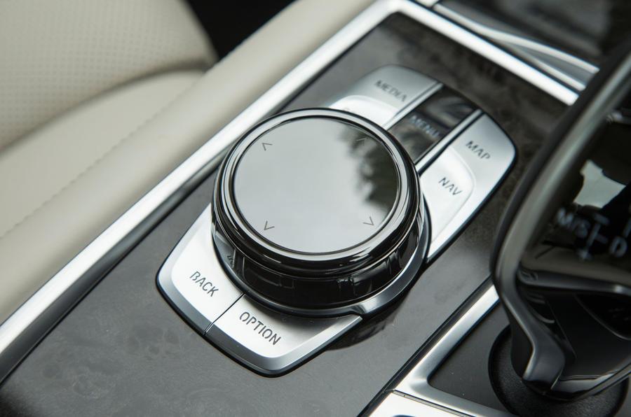 BMW 7 Series iDrive controls