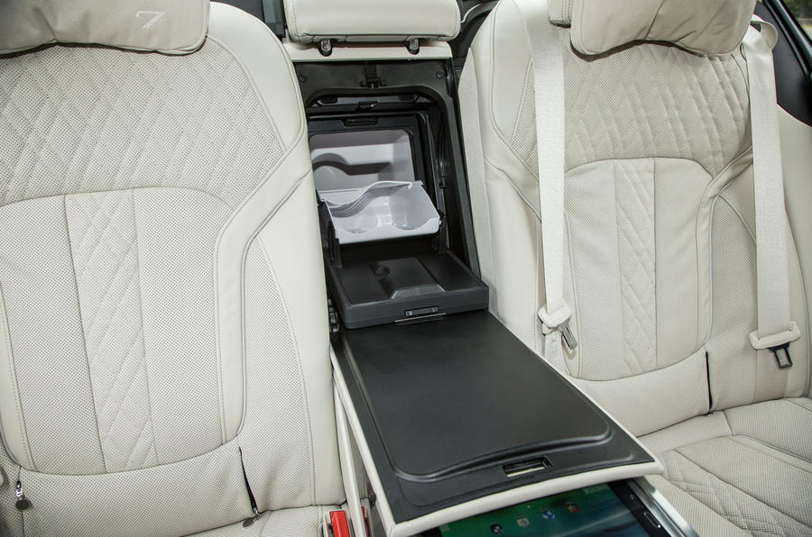BMW 7 Series rear airline seats