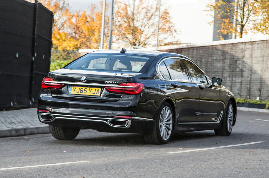BMW 730Ld rear cornering