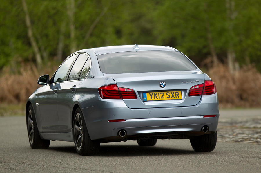 BMW ActiveHybrid 5 rear cornering