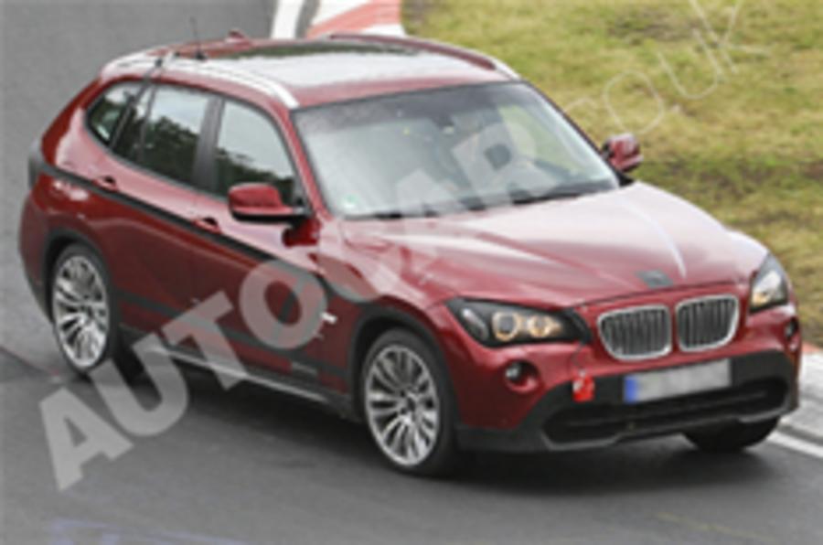 BMW X1 spied undisguised