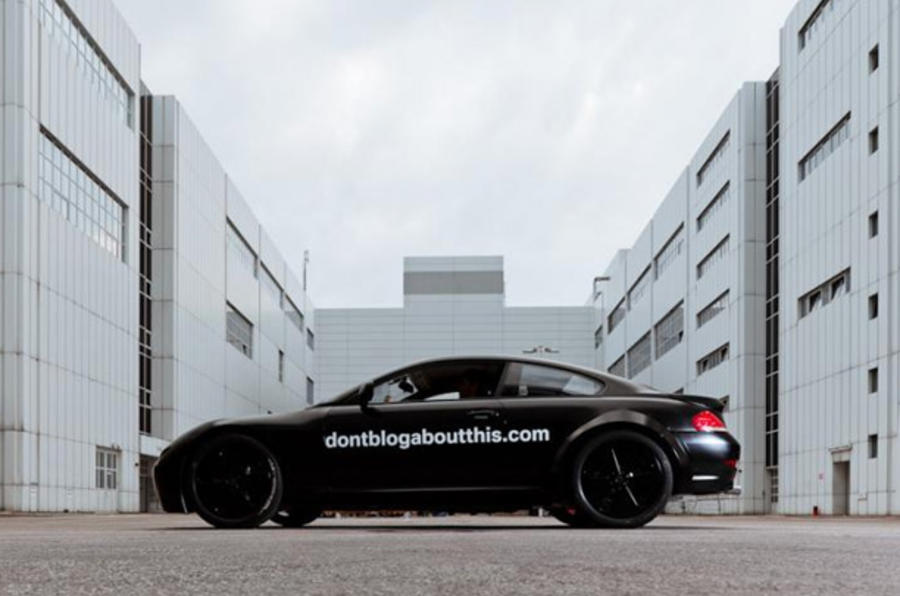 BMW site shows secret sports car