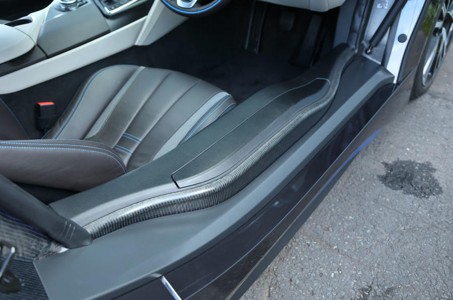 BMW i8's front seat