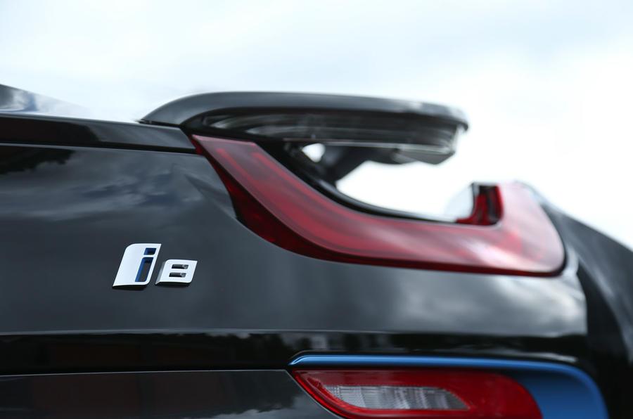 BMW i8's LED rear lights