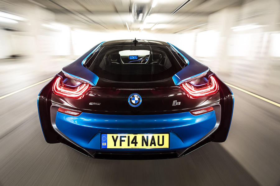 BMW i8 UK rear end