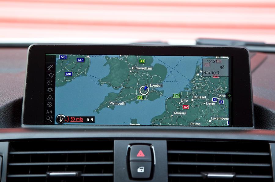 BMW M135i iDrive infotainment system