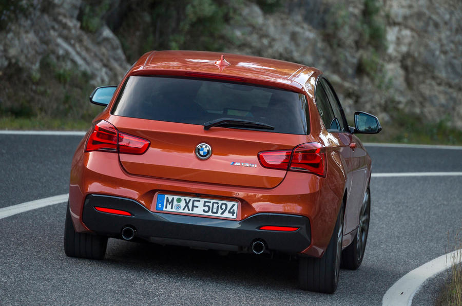 BMW M135i hard rear cornering