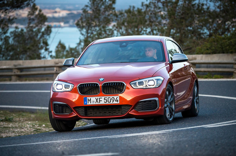 BMW M135i hard cornering