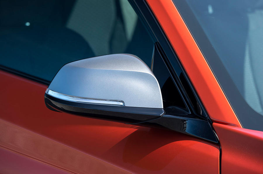 BMW M135i's satin silver wing mirrors