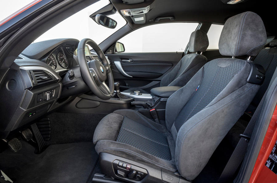 BMW M135i's front seats