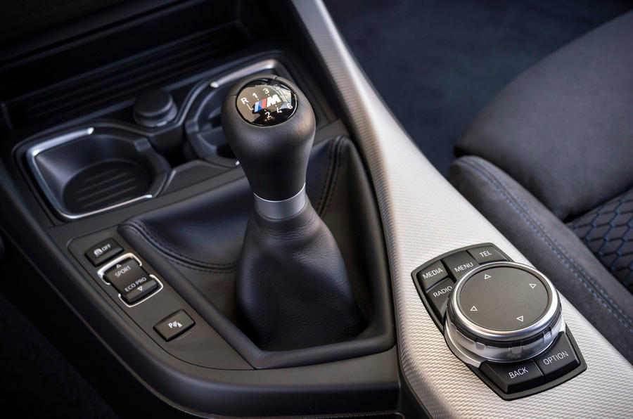 BMW M135i's centre console