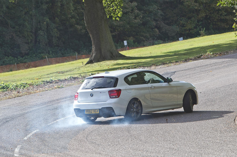 BMW M135i hard cornering
