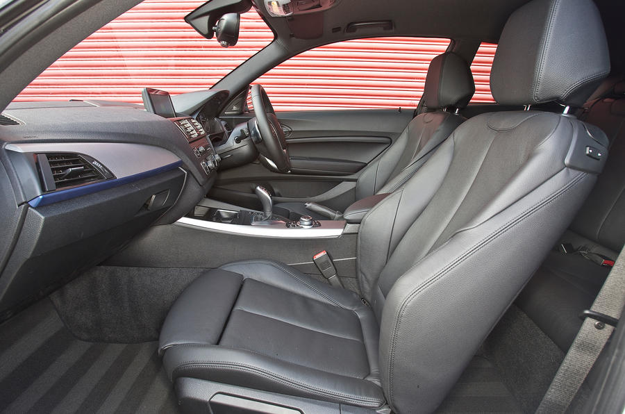 BMW M135i front seats