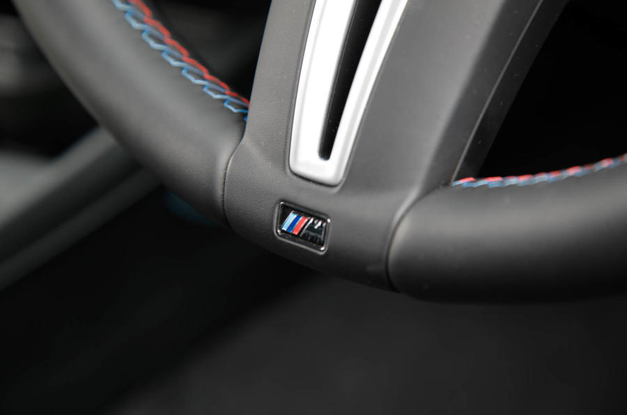 BMW M2 badged steering wheel