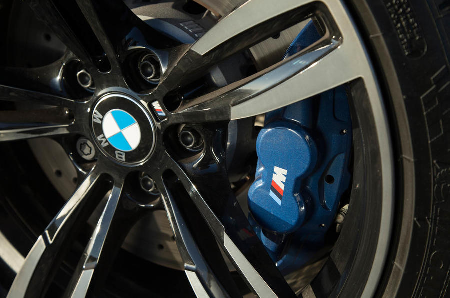 Blue BMW M2 brake calipers